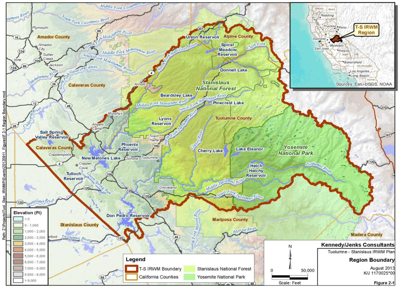 data management  tuolumnestanislaus integrated regional water  - tstan irwma region map